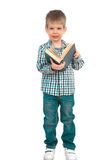 Little boy with book Stock Photo