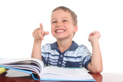 Little boy with a  book Royalty Free Stock Photos