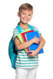 Little boy with books Stock Photography