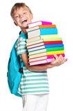 Little boy with books Stock Image
