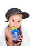 Little boy with bottle Royalty Free Stock Photo