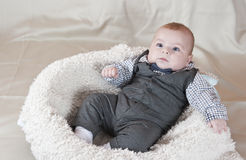 Little boy with a bow-tie. Beautiful little boy with a bow-tie Royalty Free Stock Images