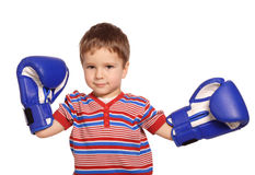 Little boy with boxing gloves Royalty Free Stock Photos