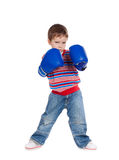 Little boy with boxing gloves Royalty Free Stock Photo