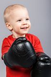 Little boy in boxing gloves Royalty Free Stock Photo