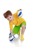 Little boy in boxing gloves Stock Images