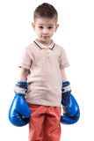 Little boy with boxing gloves Royalty Free Stock Image