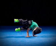 Little boy breakdancer Royalty Free Stock Images