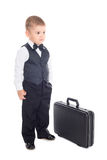 Little boy with a briefcase. Royalty Free Stock Photography