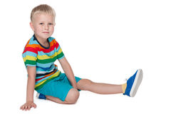 Little boy in the bright shirt Royalty Free Stock Images