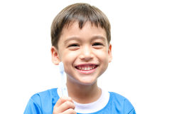 Little Boy Brushing Teeth for dental healthcare Stock Photography