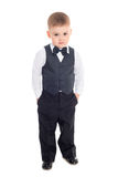 Little boy in a business suit Royalty Free Stock Images