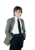 Little boy in bussiness style Royalty Free Stock Photo