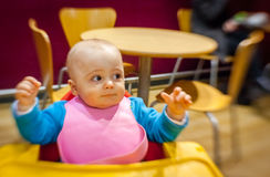 Little boy in a cafe Royalty Free Stock Photography