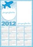 Little boy calendar 2012. Little boy blue calendar 2012, with blank frames for photos Royalty Free Stock Images