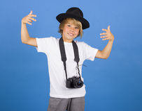 Little boy with camera Royalty Free Stock Photos