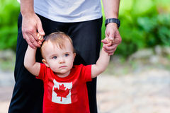 Little Boy in Canada Shirt Stock Photography