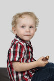 Little boy with candy Stock Photography