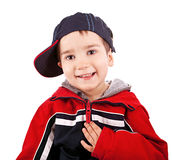 Little boy with cap Royalty Free Stock Photography