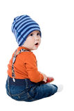 Little boy in a cap Royalty Free Stock Photography