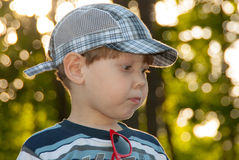 Little boy in a cap Stock Photography
