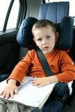 Little boy in car Stock Photography