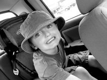 Little Boy In Car Seat Royalty Free Stock Photo