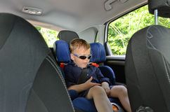 Little boy in car Royalty Free Stock Photography