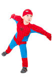 Little boy in carnival costume. Over white Royalty Free Stock Photos