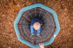 Little boy in a carousel Royalty Free Stock Photos