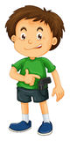 Little boy carrying firegun. Illustration Stock Image
