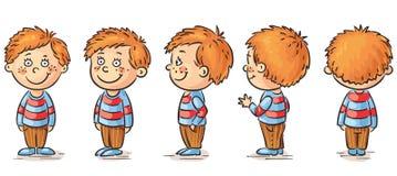 Little boy. Cartoon character turnaround Royalty Free Stock Photography