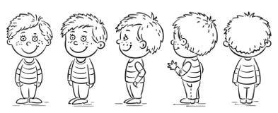 Little boy. Cartoon character turnaround Stock Photos