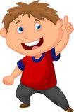 Little boy cartoon pointing with the finger. Illustration of Little boy cartoon pointing with the finger Stock Photo