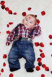 Little boy with casual clothes Royalty Free Stock Photos