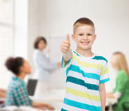 Little boy in casual clothes with arms crossed Stock Photography