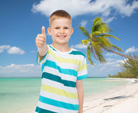 Little boy in casual clothes with arms crossed Stock Photo