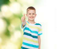 Little boy in casual clothes with arms crossed Royalty Free Stock Image