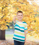 Little boy in casual clothes with arms crossed Stock Photos