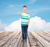 Little boy in casual clothes Royalty Free Stock Photos