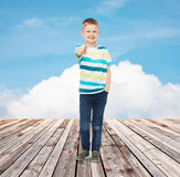 Little boy in casual clothes Stock Image