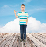 Little boy in casual clothes Stock Images