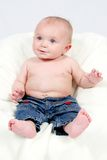 Little Boy catturato primo piano immagine stock libera da diritti