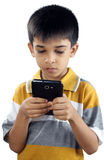 Little Boy With Cellphone Stock Image