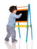 Little boy with chalkboard. Stock Image