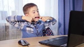 Little boy chat and play with your friends on your stock video footage