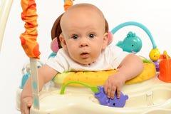 Little Boy che gioca con i giocattoli Immagini Stock Libere da Diritti