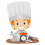 Little Boy Chef with Measuring tools. Vector Illustration of Little Boy Chef with Measuring tools Royalty Free Stock Photos