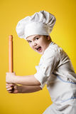 Little boy chef in uniform Stock Photography