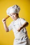 Little boy chef in uniform Royalty Free Stock Photo